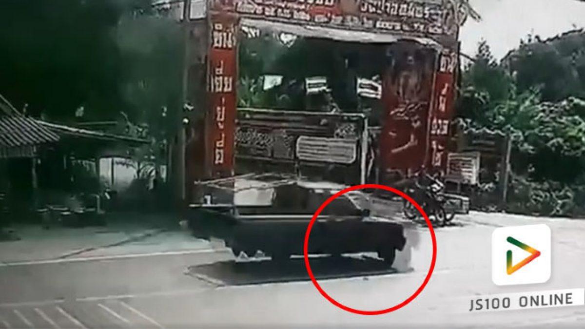 คลิปวินาทีรถพ่วงรอดแบบเฉียดฉิว (13-02-61)