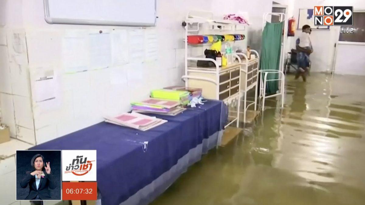 ปลาว่ายในห้องไอซียู หลังน้ำท่วมโรงพยาบาลในอินเดีย