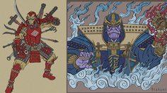 สุดเจ๋ง! โฉมหน้าเหล่า Avengers สไตล์ญี่ปุ่นยุคกลางที่กำลังถูกแชร์กระหึ่มโซเชียล
