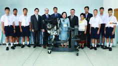 BMW กรุ๊ป ประเทศไทย มอบเครื่องยนต์ให้กับสถาบันเทคโนโลยีจิตรลดา