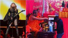 มาดอนน่า ดอดไปวัดโพธิ์ ก่อนแสดงคอนเสิร์ตในเมืองไทย
