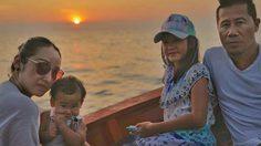 ครอบครัวสุขสันต์! ต้อม ยุทธเลิศ หอบลูกเมียเที่ยวทะเล ฉลองครบรอบ 13 ปี
