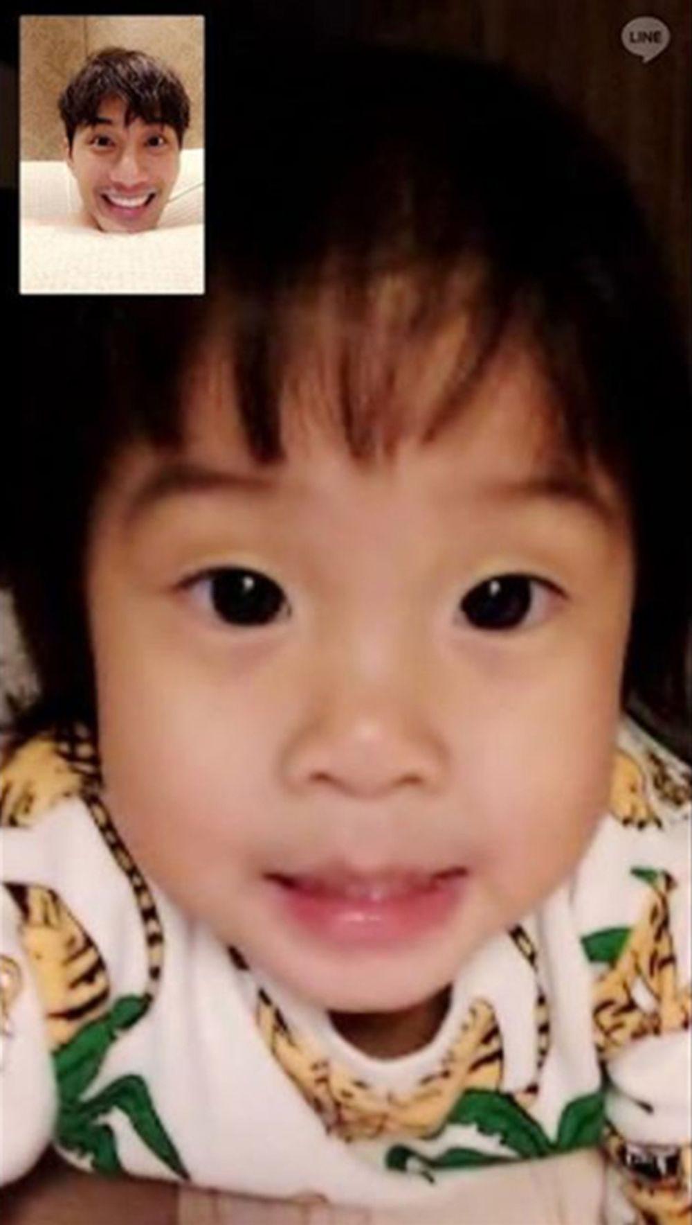 พ่อบี้-น้องเป่าเปา วิดีโอคอลคุยกันตลอดตอนพ่ออยู่จีน