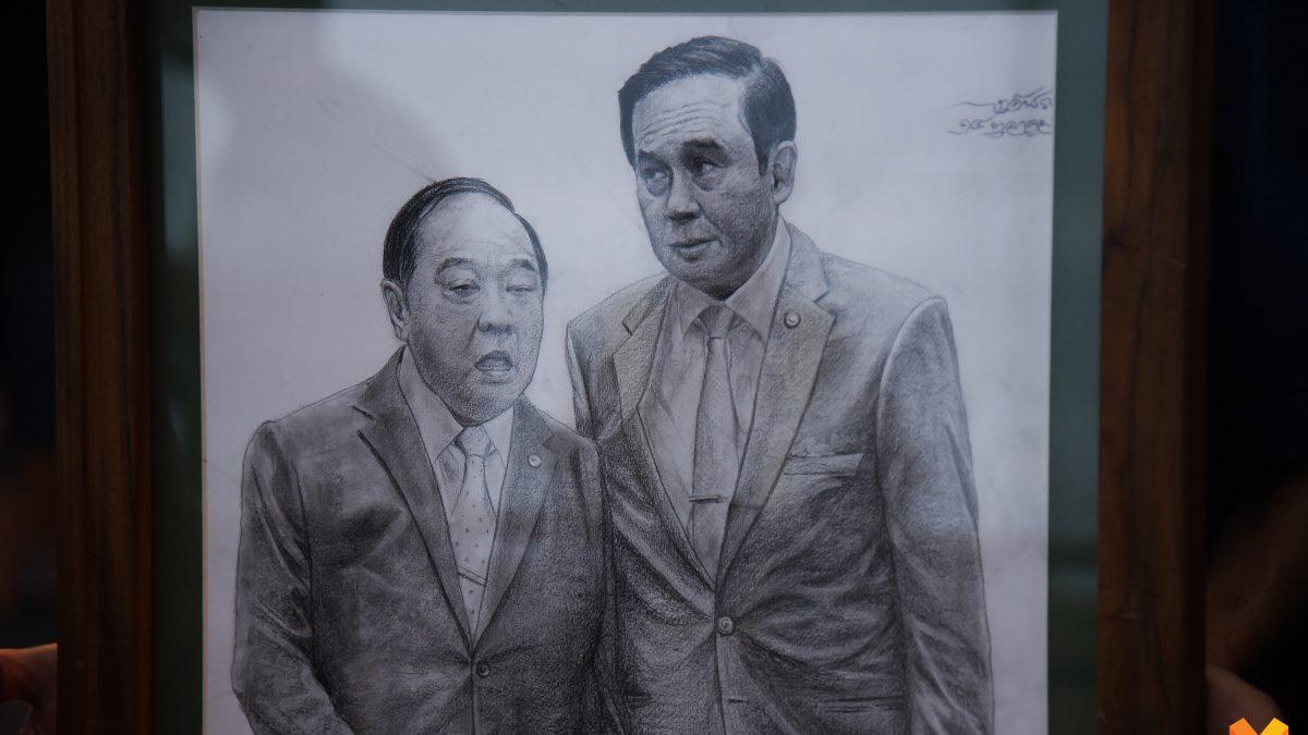 โชว์ภาพวาด 'คนไม่ทนคสช.'  รำลึกวันครบรอบ 5 ปีรัฐประหาร