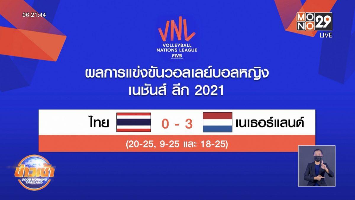 วอลเลย์บอลสาวไทยพ่ายเนเธอร์แลนด์ประเดิมสัปดาห์ที่ 2