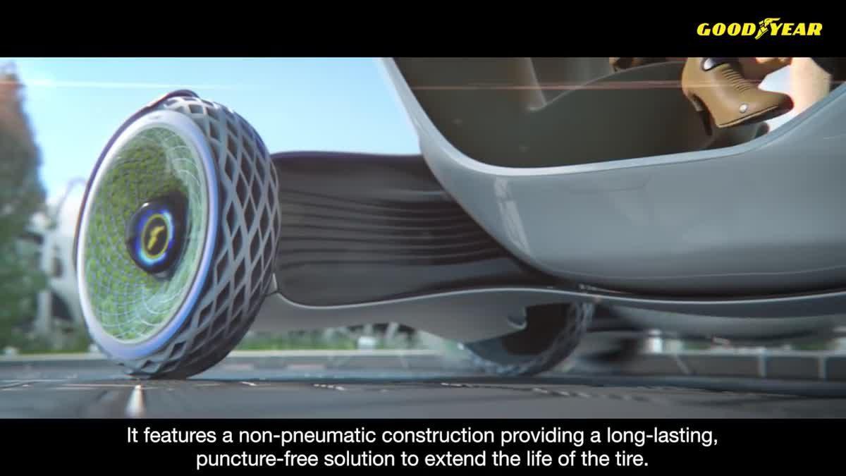 Goodyear เผยโฉม ออกซิเจน ยางรถยนต์ต้นแบบ เพื่อการขับขี่ในเมืองแบบไร้ มลภาวะ และสะดวกสบายยิ่งขึ้น