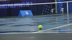 เทนนิส ซีเกมส์ เลื่อนแข่งจากพิษพายุคัมมูริ ด้านนักหวดไทยมองเป็นเรื่องปกติ