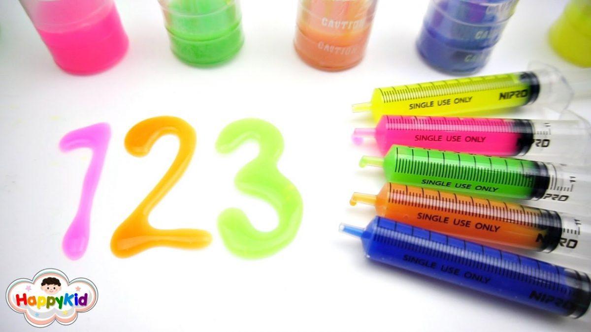 สไลม์ตัวเลข 1-20 | เรียนรู้ตัวเลขภาษาไทย-อังกฤษ | Learn Number 1-20 In Thai