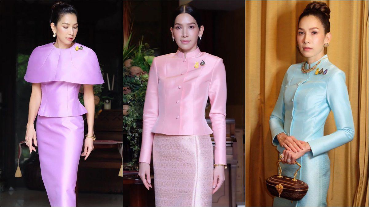 งดงามในผ้าไทย นุสบา ปุณณกันต์ ทำหน้าที่ ภริยา รมว. ดิจิทัล ต้อนรับผู้นำประเทศ