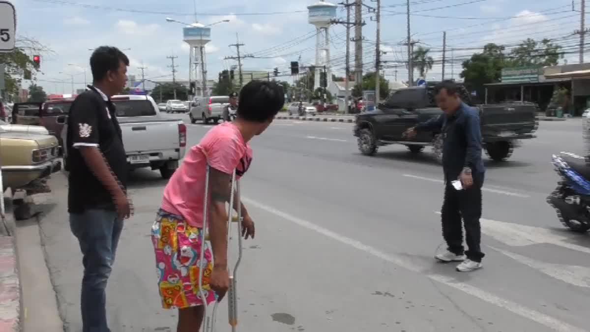 ตำรวจคุมตัวผู้ก่อเหตุไล่ยิงคู่อริ กลางสี่แยกวิเศษชัยชาญทำแผน