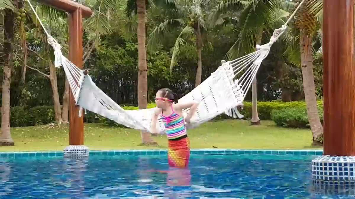 น้องเกรซสวยใสในชุดนางเงือกใหม่ สระว่ายน้ำใหญ่มาก!! _ Sofitel Krabi PhokeeThra