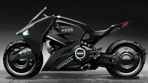 เรนเดอร์ Honda Futuristic NM4 Concept ที่ใข้ในภาพยนตร์เรื่องใหม่ของ Scarlett Johansson