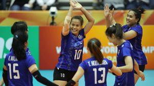 ผลวอลเลย์บอล : สาวไทยพยายามเต็มที่ก่อนตบพ่ายจีน 3 เซต ลูกยางโลกรอบสอง