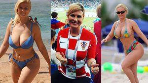 ผู้นำแซ่บ! Kolinda Grabar-Kitarović ปธน.โครเอเชีย บินตรงเชียร์ตราหมากรุกทะลุชิงบอลโลก