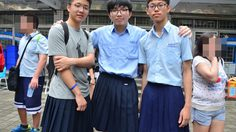 นักเรียนชายไต้หวัน สวมกระโปรงมาโรงเรียน เพื่อลบแบบแผนทางเพศ