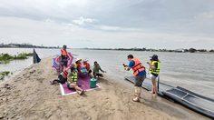 หาดทรายน้ำจืด จ.ปทุมธานี อันซีนสันดอยทราย เล่นน้ำชิลล์ๆ ในวันหยุด