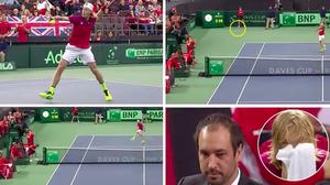 เต็มตา!แคนาดาตกรอบเดวิสคัพหลังนักเทนนิสทำแบบนี้กับกรรมการ
