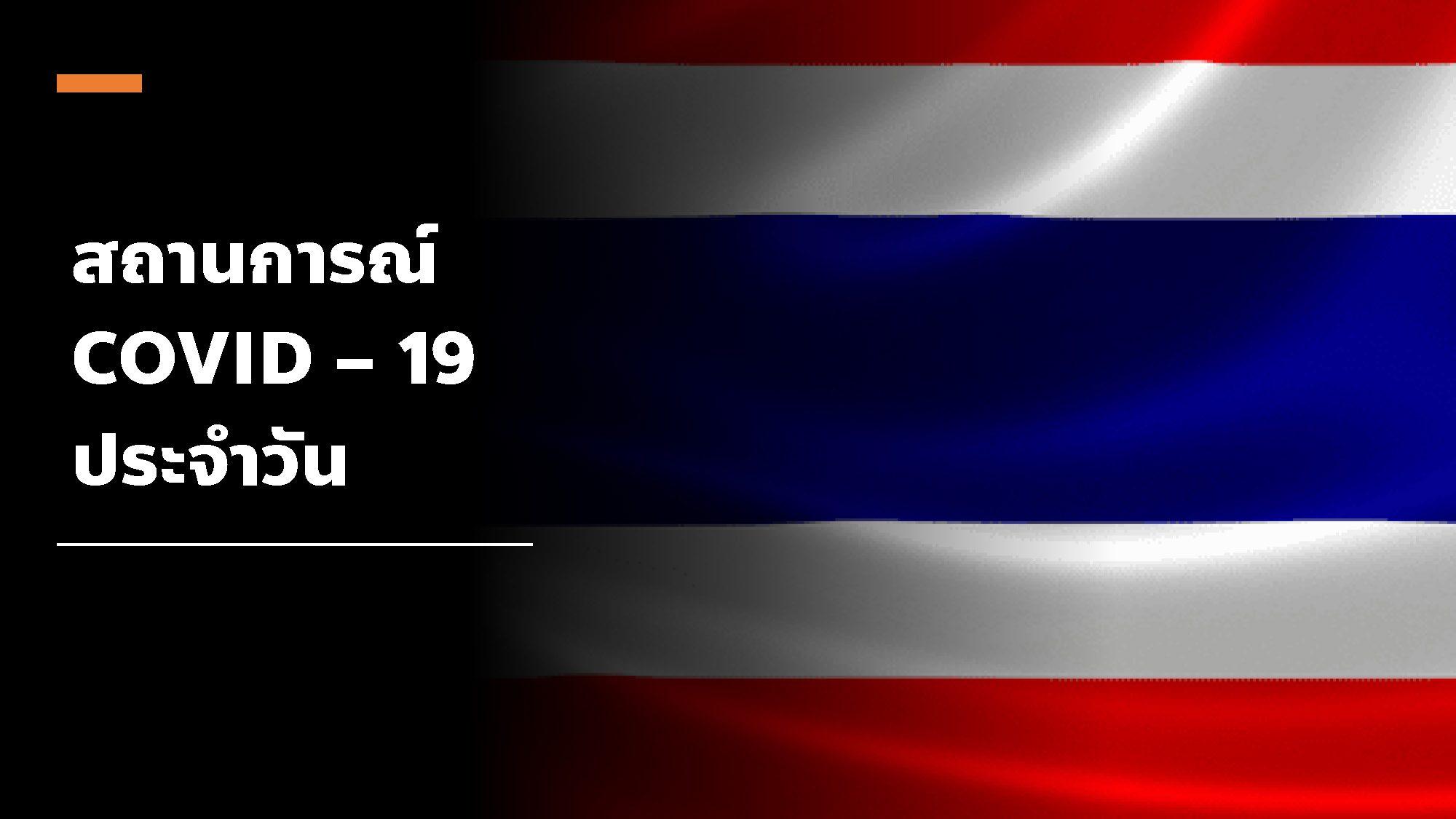 รายงาน โควิด-19 ในไทย วันที่ 26 พ.ย. 63