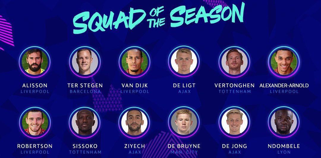 ทีมแชมป์มา 6 คน!! ยูฟ่า ประกาศ 20 แข้งติดโผทีมยอดเยี่ยม UCL ประจำซีซั่น 2018/19
