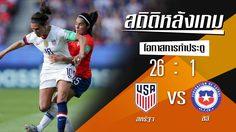 สถิติหลังเกม : สหรัฐอเมริกา vs ชิลี !! (16 มิ.ย. 62)