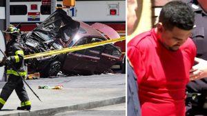 ผลตรวจเหตุรถพุ่งชนคนเดินถนนในนิวยอร์ค คนร้ายเมากัญชา