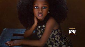 """เด็กผิวสีคนแรก """"Jere"""" วัย 5 ขวบ เด็กหญิงที่สวยที่สุดในโลก"""