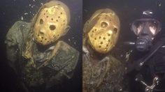 ตกใจแรง รูปปั้นเจสัน ถูกถ่วงน้ำใต้ทะเสสาป เอาไว้แกล้งนักดำน้ำ