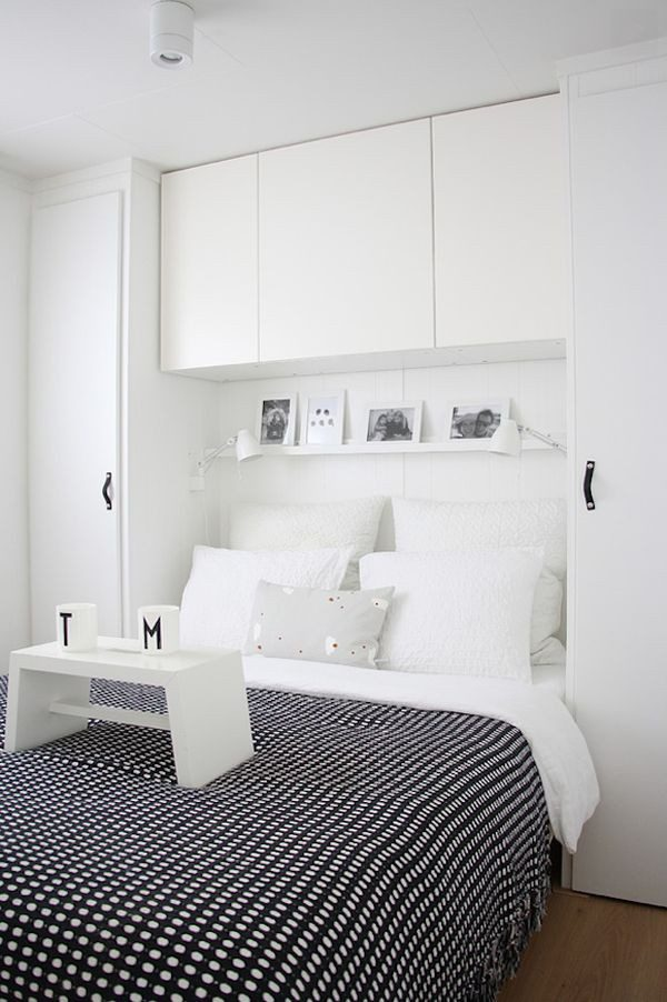 white-bedroom-furniture-black-accents-blanket-and-accessories