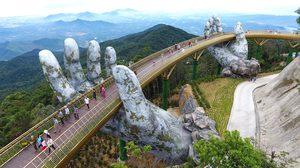 Golden Bridge สะพานลอยฟ้า ในอุ้งมือยักษ์ ที่เที่ยวใหม่บนเขาบานาฮิลล์ เวียดนาม