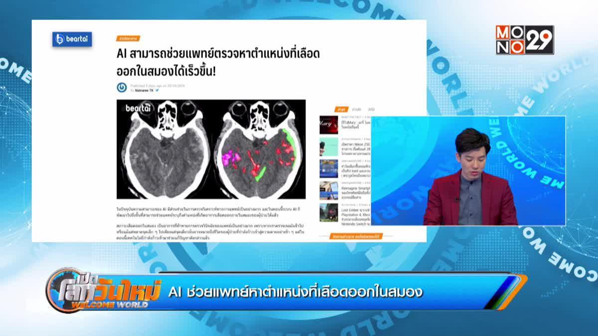 AI ช่วยแพทย์หาตำแหน่งที่เลือดออกในสมอง