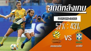 สถิติหลังเกม : ออสเตรเลีย vs บราซิล !! (13 มิ.ย. 62)