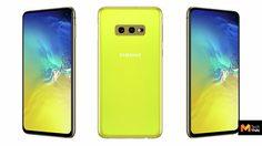 เผยโฉมชัดๆ ภาพ Galaxy S10e สีเหลือง Canary Yellow