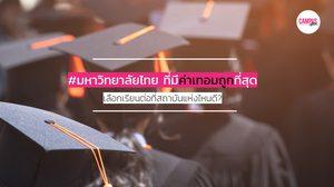8 มหาวิทยาลัยไทย ที่มีค่าเทอมถูกที่สุด