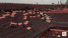 ศรีราชาฝนตกหนักพายุหมุน 3 รอบพัดบ้านเรือนเสียหายกว่า100หลัง
