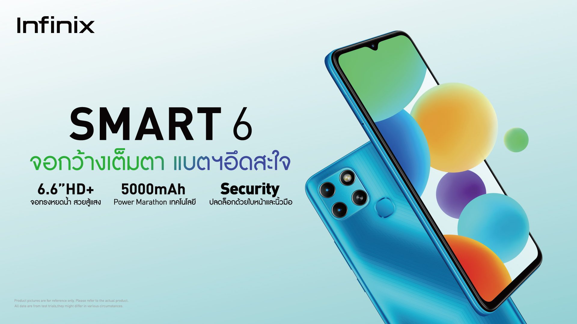 Infinix เปิดตัวมือถือราคาประหยัด Smart 6 ในประเทศไทย เป็นที่แรกของโลก จอกว้างเต็มตา แบตฯ อึดสะใจ ในราคาเพียง 3,199 บาท