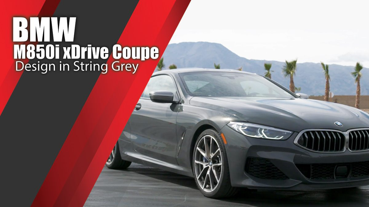BMW M850i xDrive Coupe Design in String Grey
