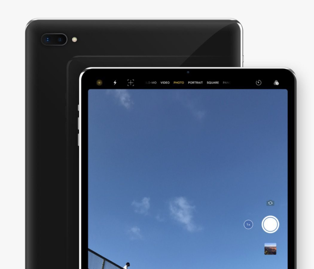 กล้องหน้าและกล้องหลัง iPad pro 2018