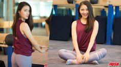 โฟม พัทธ์ธีรา สาวน่ารัก หุ่นดี กับการออกกำลังกายบาร์เอ็กเซอร์ไซส์
