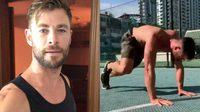 ฟิตเนสไอดอลที่แท้ทรู Chris Hemsworth ปล่อยคลิปสอนฟิตหุ่น แบบจัดหนักบนไอจี