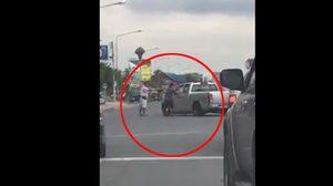 ชาวบ้านกรี๊ดเสียงหลง เห็นตำรวจไล่ล่าสกัดจับแก๊งค้ายาต่อหน้าต่อตา