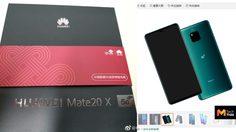 หลุดภาพกล่อง Huawei Mate20 X 5G แบตเตอรี่เหลือ 4200 mAh