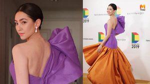 งดงาม เบลล่า สวมชุดผ้าไหมไทย แบรนด์ EMOTIONS ATELIER รับรางวัลที่ญี่ปุ่น