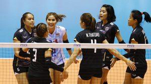 ฟอร์มดุ! วอลเลย์บอลหญิงไทย ชนะ เปรู 3-0 เซต นัดสุดท้ายคัดอลป.
