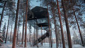 """The 7th Room"" โรงแรมบ้านต้นไม้ นอนชมแสงเหนือ ในฤดูหนาว"
