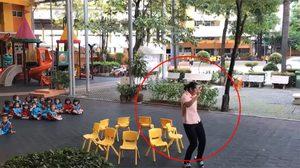 สุดพริ้ว ครูสาวโชว์สเต็ปเต้น สาธิตวิธีเล่นเก้าอี้ดนตรี