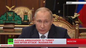 ปูติน แถลงแล้ว หลังทูตรัสเซียโดนสังหารในตุรกี