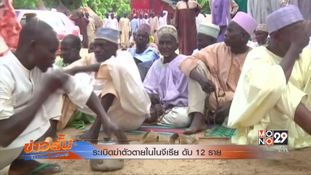 ระเบิดฆ่าตัวตายในไนจีเรีย ดับ 12 ราย