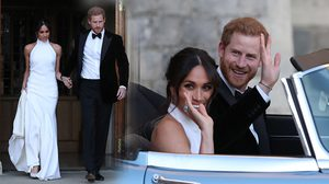 งานเลี้ยงฉลองสมรส เมแกน สวมเดรสสีขาวสุดเรียบง่าย พร้อมแหวนของเจ้าหญิงไดอาน่า