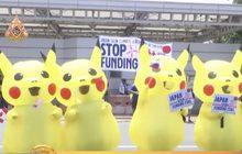 นักเคลื่อนไหวฟิลิปปินส์แต่งชุดปิกาจูประท้วงญี่ปุ่น