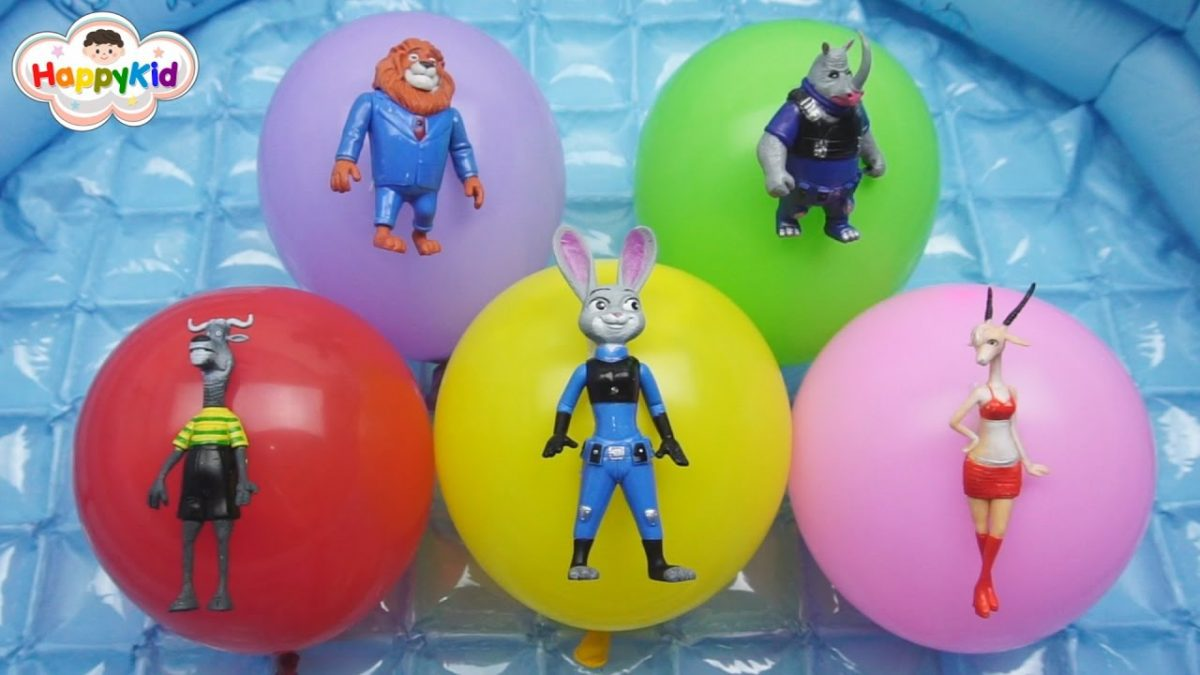 เพลงนิ้วโป้งอยู่ไหน #10 | เจาะลูกโป่งซูโทเปีย | Learn Color With Zootopia Balloon